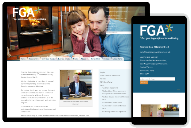 FGA website on computer and phone