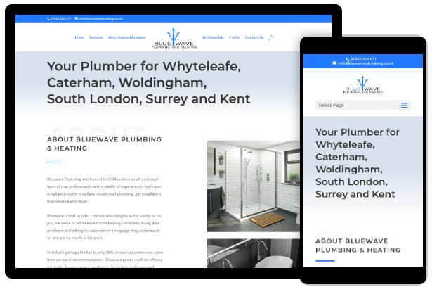 Screenshot of https://bluewaveplumbing.co.uk